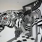 "Tape Art installation ""Urban Jungle"" at ""The Haus"""